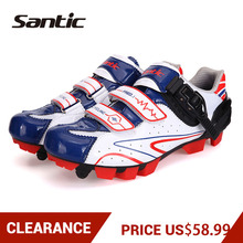 Clearance! Exclusive! SANTIC Men MTB Cycling Shoes Breathable Mountain Bike Self-locking Shoes Nylon TPU Soles Bicycle Shoes santic cycling shoes men professional mountain bike shoes black pu breathable self locking bicycle shoes zapatillas ciclismo