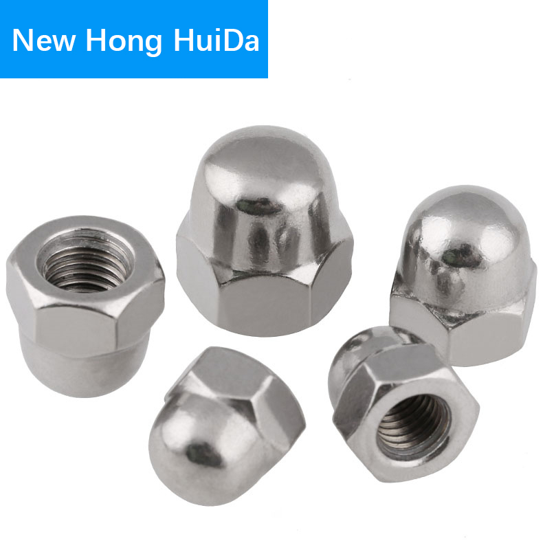 M5 Dome Nut with Flat and Split Washer Set 304 Stainless Steel Cap Nut Acorn Nut Hex Nut 60Pcs