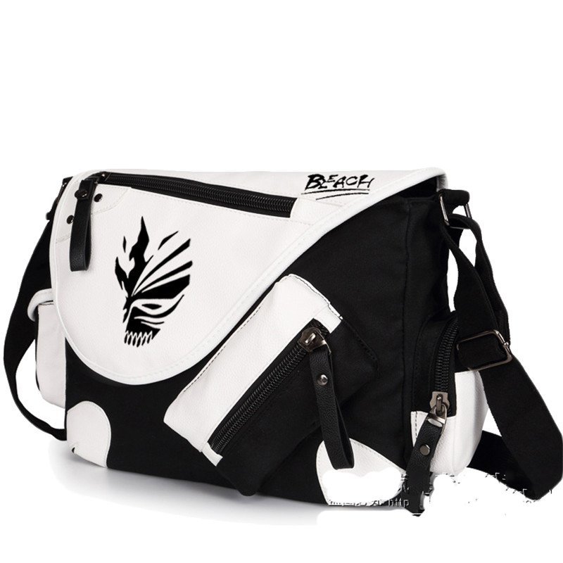 Bleach Ichigo Kurosaki Cartoon Animation Cosplay Messenger Bag Unisex Students Travel Crossbody Bags Schoolbag