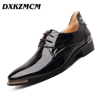 DXKZMCM Handmade Men Formal Dress Shoes New Arrival Wedding Oxfords Round Toe Men S Party Flats
