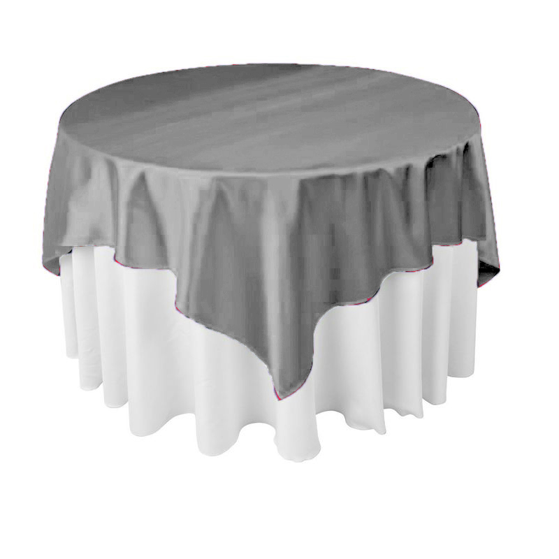 NEW Square Satin Tablecloth Table Covers For Wedding Party Restaurant Banquet Decorations 14pcs Pack 145cm x