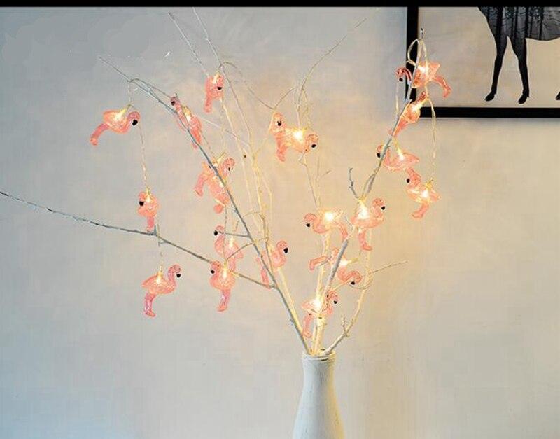 Aliexpress Rosa Flamingo Led String Licht AA Batterie Vogel Girlande Hochzeit Hintergrund Wohnzimmer Mdchen Raumdekoration Lampe Nachtlicht Von