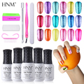 HNM Super Bling Colors Soak Off Gel Nail Polish Set 3pcs Nail Gel 1+1 Top Coat Base Coat 7pcs/lot Nail Art Tools Set
