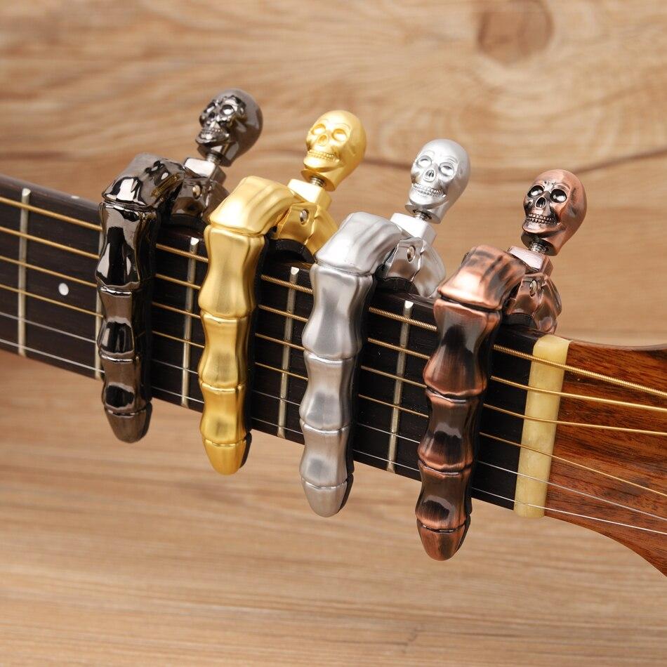 Dedos crânio Projeto Fresco Guitarra Acessórios Peças de Guitarra Ukulele Guitarra Guitarra Capo para Acústico Elétrico