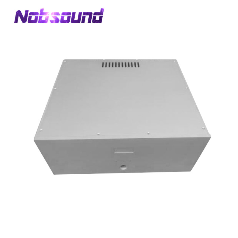 Nobsound Power Amplifier Chassis White Aluminum Case DIY Enclosure Box nobsound hi end audio noise power filter ac line conditioner power purifier universal sockets full aluminum chassis