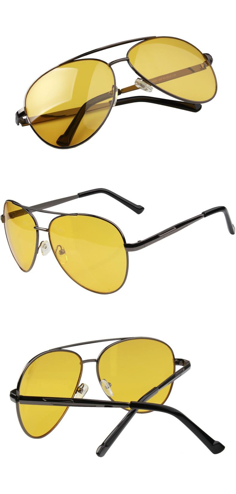 Yellow Aviator Sunglasses Multiple Angles
