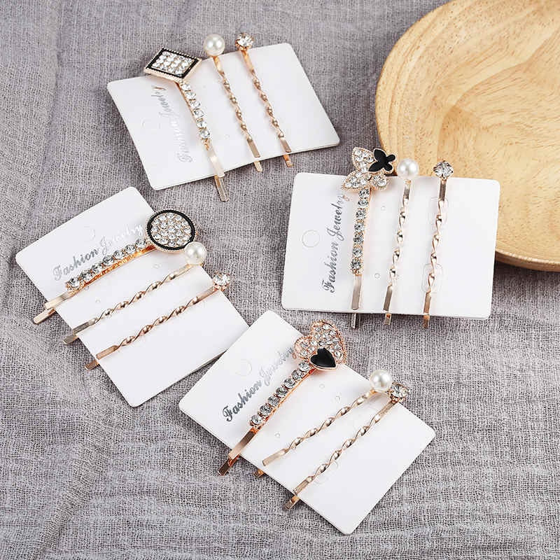 New Fashion 1Set Women Girls Elegant Pearls Hair Clips Sweet Headwear Hair Ornament Hairpins Barrettes Headband Hair Accessories