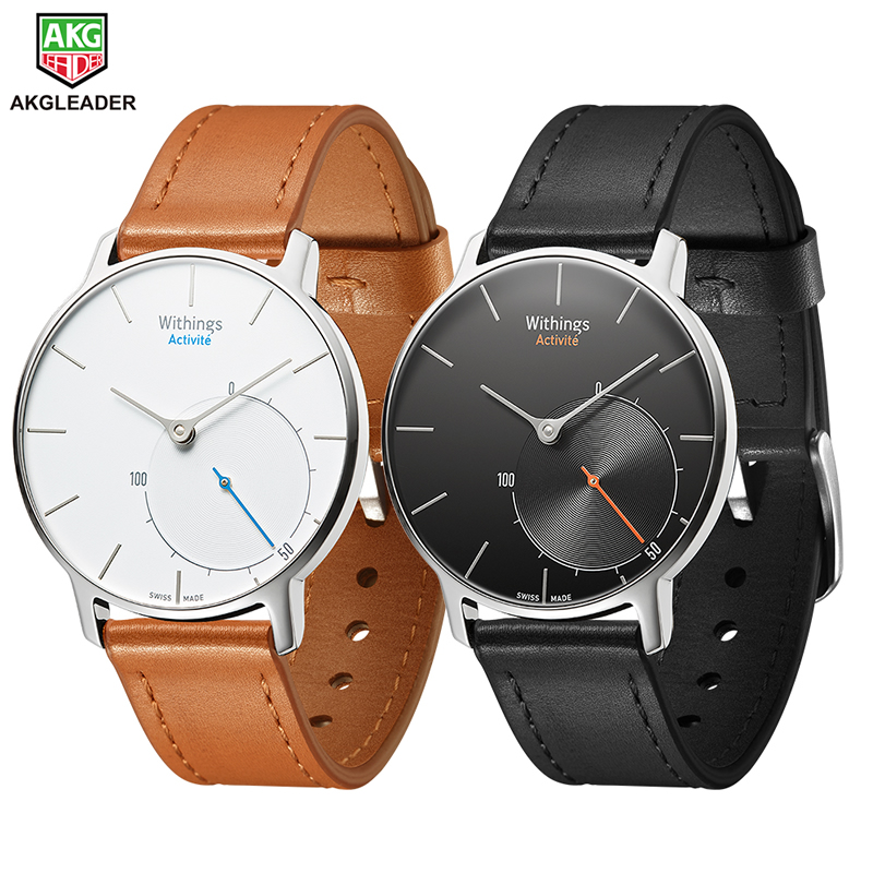 For Nokia Withings 18mm Genuine Leather Watchband Wrist Strap Replacement Bracelet For Nokia Withings Steel HR Huawei Watch 1