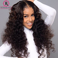 360 Lace Frontal With Bundle Brazilian Loose Wave With Closure 4 Pcs Curly Brazilian Hair 360 Lace Frontal Closure With Bundles