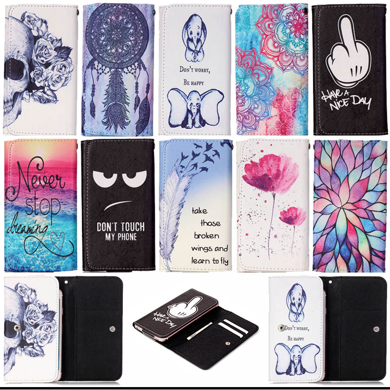 Cute Printed Flip PU Leather Case cover Fundas for <font><b>Cubot</b></font> Note S S208 S308 S500 S550 <font><b>S600</b></font> Z100 Universal Mobile Phone Bags S5C53D image