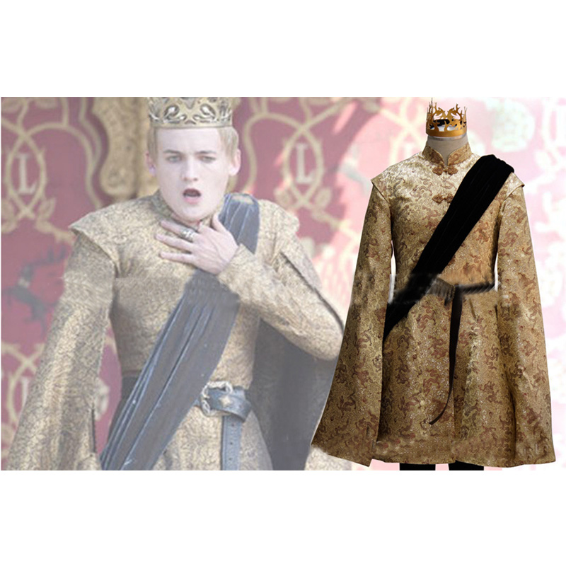 Game of Thrones King Joffrey Baratheon Cosplay Costume Men Halloween Carnival Party Costume Full Set Custom