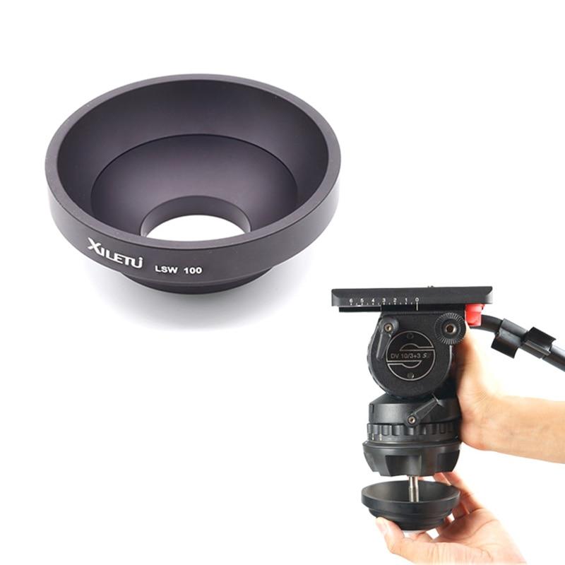 XILETU LSW-100 100 mm Media bola trípode de aleación de aluminio - Cámara y foto - foto 5