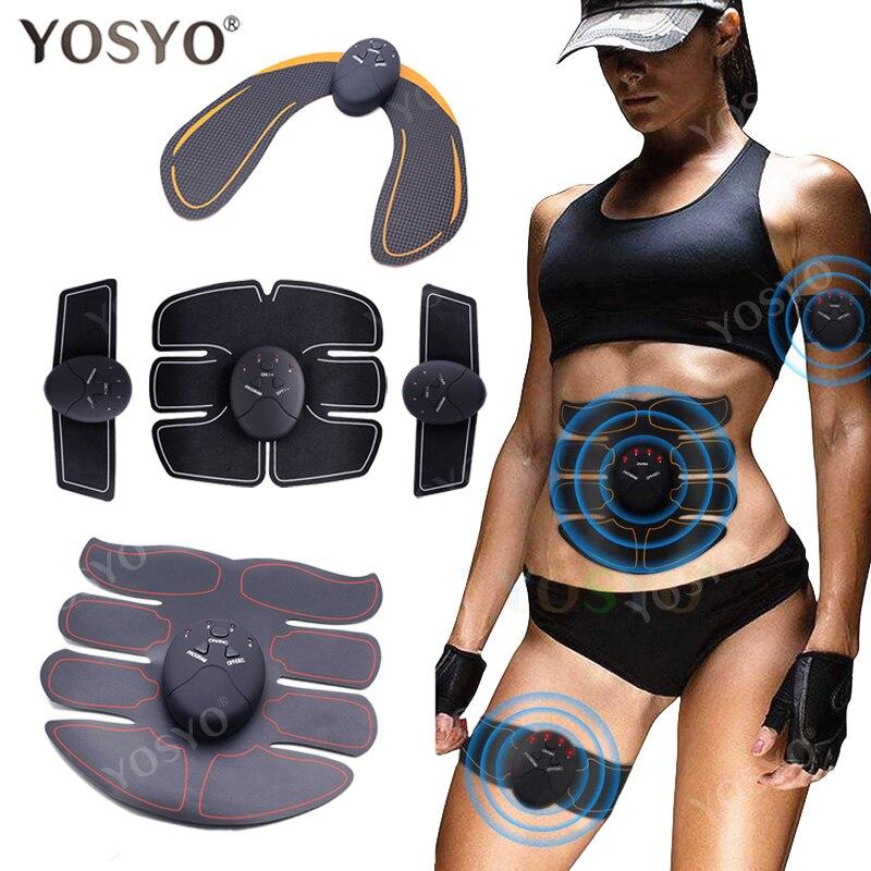 Смарт-тренажер для мышц EMS, электрический стимулятор мышц, беспроводной стимулятор для ягодиц, мышц живота, АБС, фитнес-массажер для похуден...