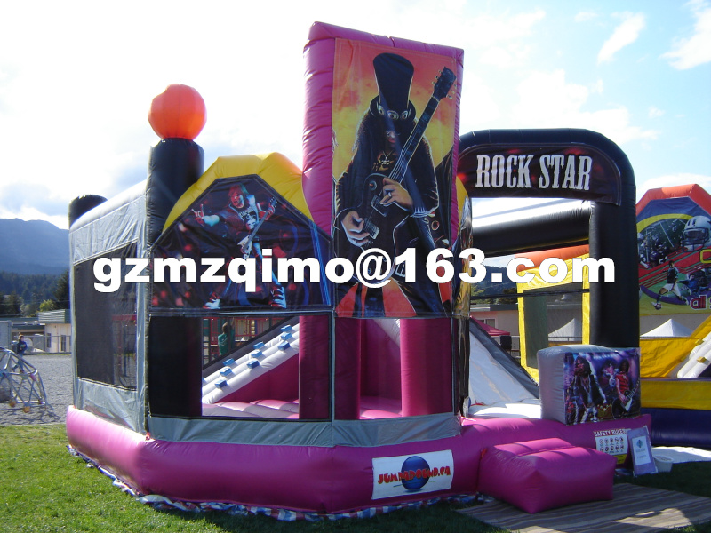 FREE BY SEA cartoon printing inflatable bouncer / inflatable bouncer slide combo / commercial inflatable bouncy castle for sale giant super dual slide combo bounce house bouncy castle nylon inflatable castle jumper bouncer for home used
