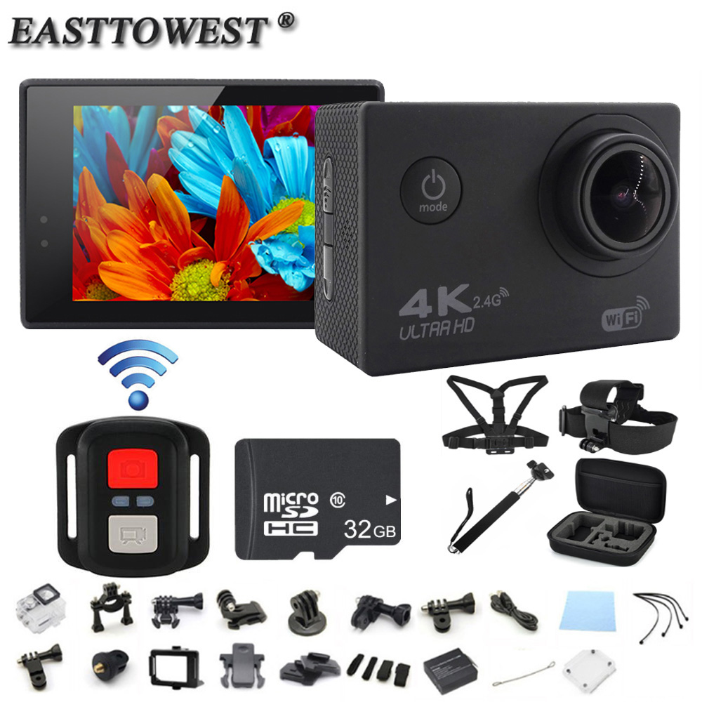 4K Action Camera F60R Remote 2 0 HD LCD Go Pro Style Camera 170D Wifi Go