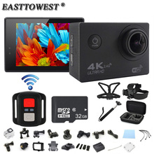 4 К действие Камера F60R дистанционного 2.0 «HD ЖК-дисплей Go Pro Стиль Камера 170D Wi-Fi Go 1080 P/ 60FPS Pro Стиль Камера Водонепроницаемый Спорт Камера