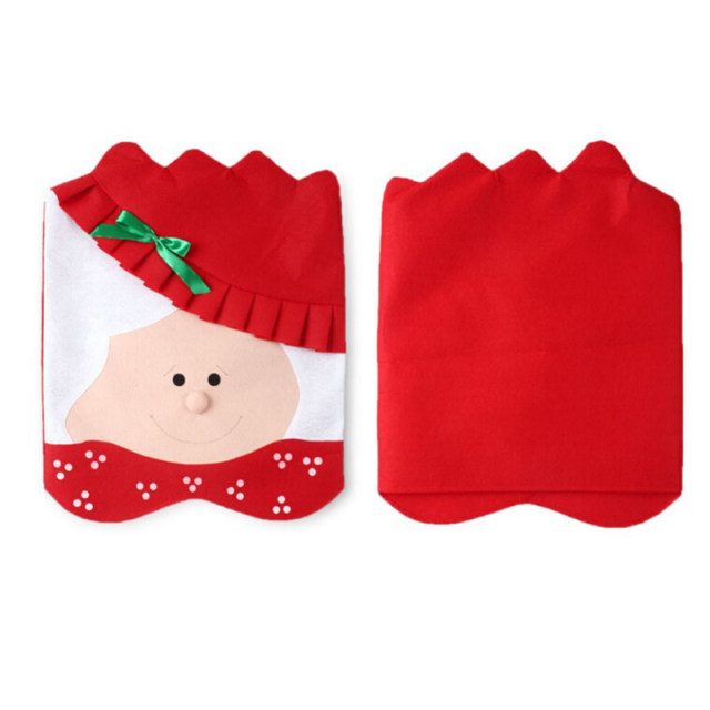 Online Shop 2pcs Christmas Santa Clause Chair Cover Set Mr Mrs