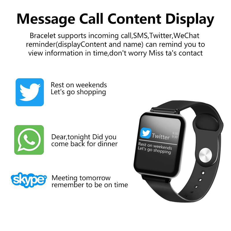 B57 Smart watches Waterproof Sports for iphone phone Smartwatch Heart Rate Monitor Blood Pressure Functions For Women men kid 3