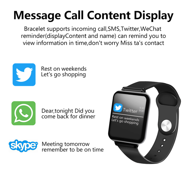 Waterproof Sports for iphone Smartwatch Heart Rate Monitor Blood Pressure For Women 3
