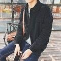 Ropa masculina solapas capa, chaqueta de pana retro locomotora chaqueta de algodón acolchado