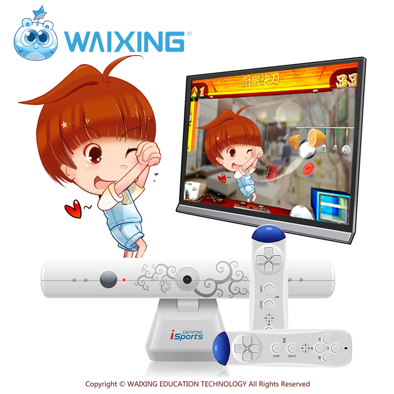Kinder Tv Bewegung Sensoren Waixing Technologie Somatosensory Spiel Maschine Virtuelle Realität Spiel Konsole Verpackung Der Nominierten Marke