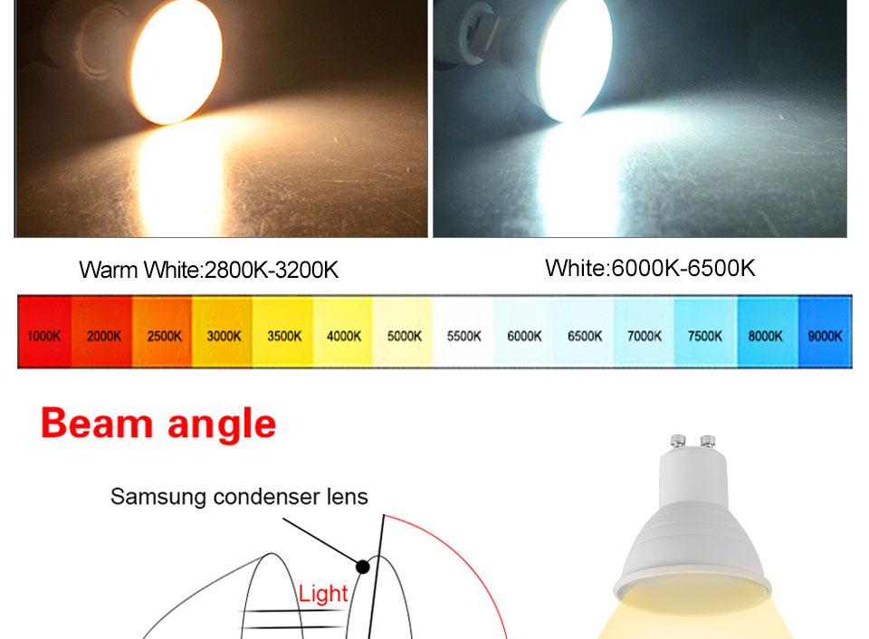 GU5.3 GU10 MR16 220V Lampada LED Spotlight 4W 5W 6W 7W 8W LED Lamp Light LED Bulb Table Downlight Ceiling Light Warm White Lamp (6)