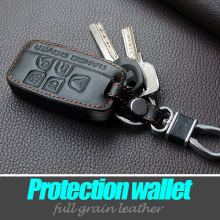 Genuine leather car key cover case for LandRover a9 range rover freelander Evoque discovery keychain