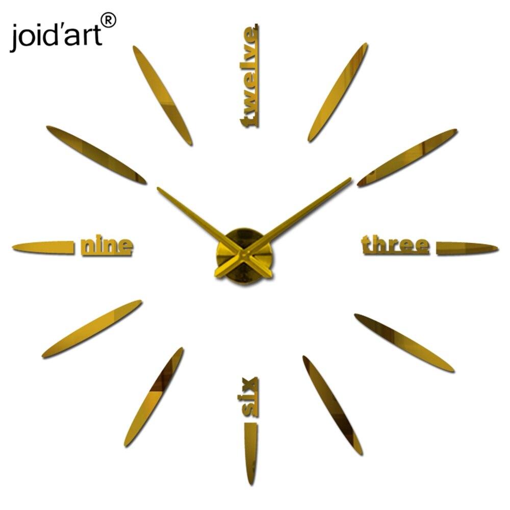 new sale quartz clock clocks wall living room circular creative 3d diy acrylic mirror large home decoration wall stickers