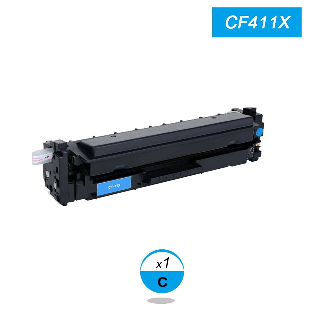New Cyan Toner Compatible for HP Laserjet Pro CF411X  M452 dn / dw / nw M470 Tri-Color 5000 pages Free shipping Hot Sale 2x non oem toner cartridges compatible for oki b401 b401dn mb441 mb451 44992402 44992401 2500pages free shipping