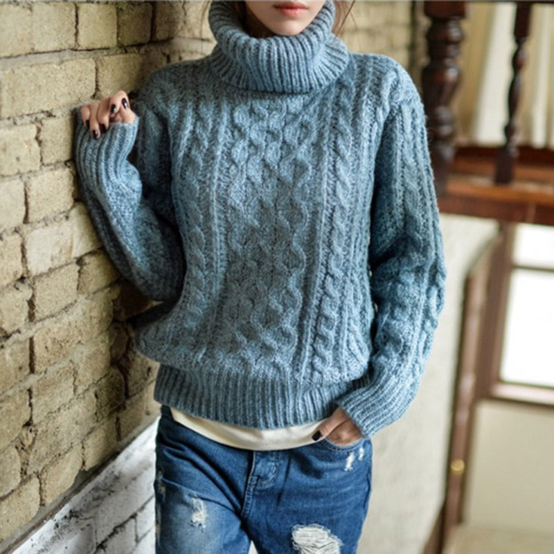 Oversized Sweater Pull Femme Turtleneck Ugly Christmas Sweaters Women 2016 Korean Winter Knitted Jumper Sueter Pullover Clothing