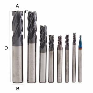 Image 5 - 8 sztuk 4 flety zestaw młynka z węglików spiekanych Mayitr stal wolframowa HRC50 twardość frezowanie CNC wycinarka 2/3/4/ 5/ 6/8/10/2mm Dia.