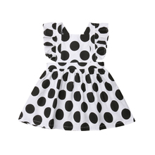 Girls Dress Wedding Party Kids Ruffle Sleeveless Mini Dress Cotton Polka Dot Children Dresses Girls Sundress Princess Clothes