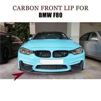 3PCS/Set Carbon fiber Front Bumper Canard Lip Splitters for BMW F82 M4 F80 M3 2014 2017 P Style Car Tuning Parts