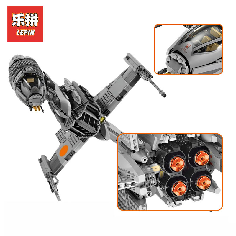 Lepin 05045 Star War Genuine Series The B Starfighter wing Educational Building Blocks Bricks Toys LegoINGlys 10227 Gifts model victorian america and the civil war