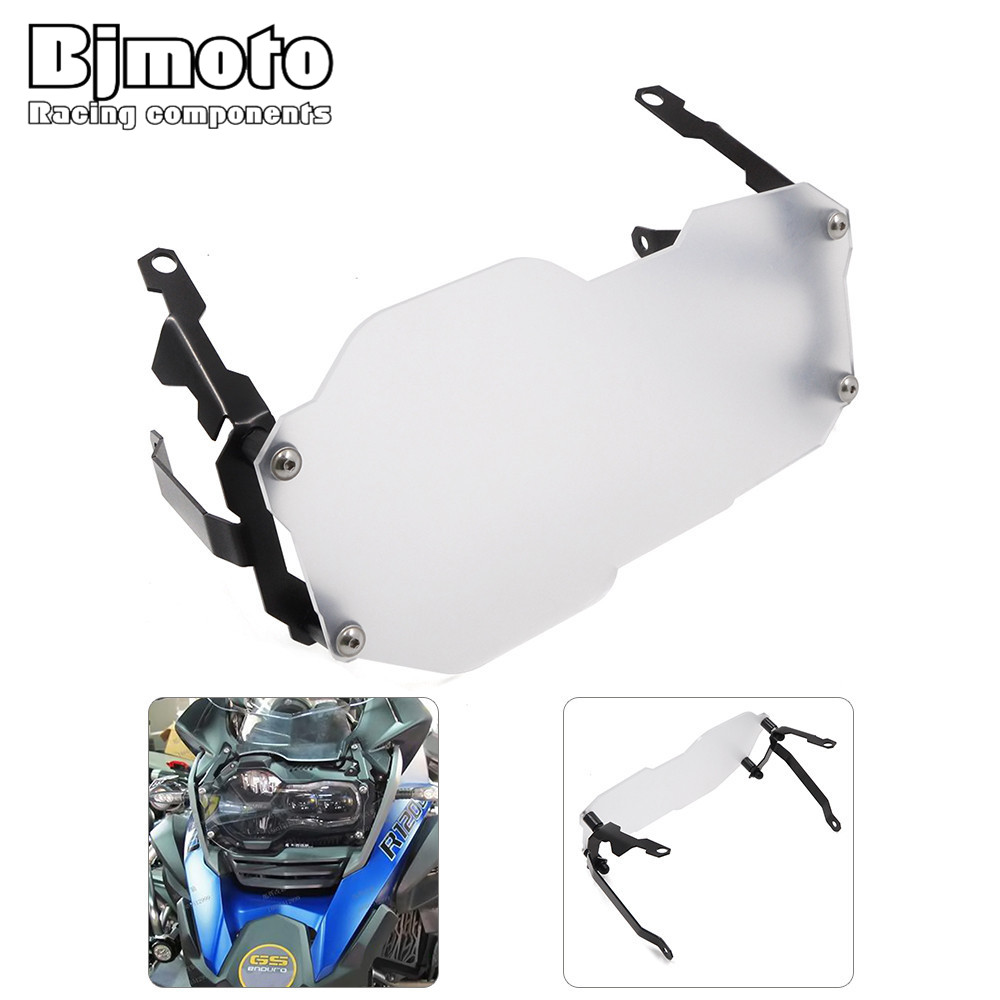 Bjmoto For BMW R1200GS Water Cooled models 2013-2016 Moto R1200GS Adventure 2014 2015 2016 Headlight Head lamp Grill Guard Cover акрапович для бмв r1200gs 2013