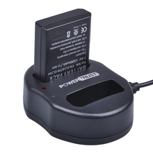 1x 1500mAh EN EL14 EN EL14A EL14A EL14 Battery Dual USB Charger for Nikon D5200 D3100