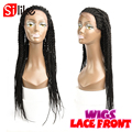 24'' Senegalese Twist Lace Front Wig 350g Synthetic Afro Braid Wigs For Black Women Lace Wig For African American