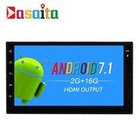Dasaita 7 Android 7 1 Car GPS Player Navi For 2 Din Universal With 2G 16G