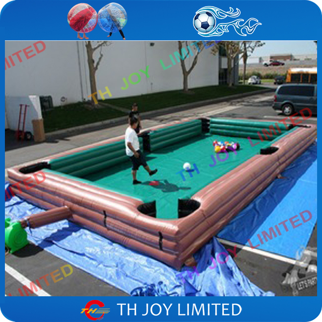10x5x0 6m Inflatable Snookball Field Snooker Pool Table For Kdis And With 16pcs