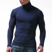 2018 Comfortable Modal Men Long Johns Thermal Underwear Tops Warm Autumn Winter High Neck Long Sleeve