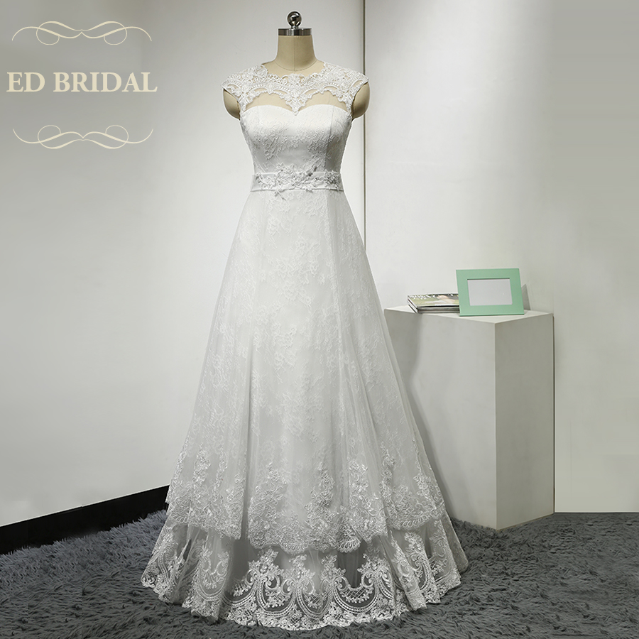 Beste Scalloped Ausschnitt Brautkleid Galerie - Brautkleider Ideen ...