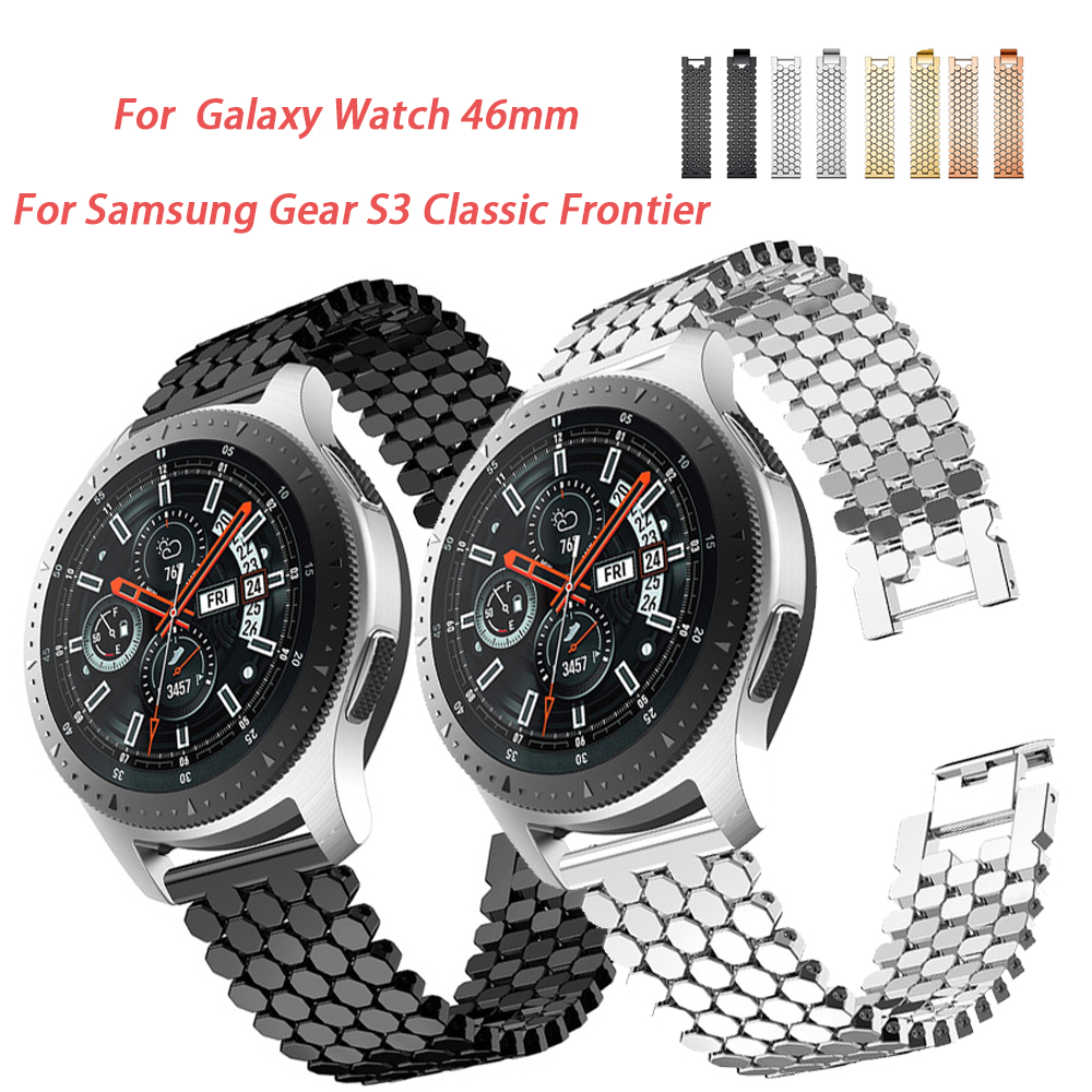 22mm Stainless Steel Watch band  For Samsung Gear S3 Classic Frontier band Galaxy 46 Band Bracelet Link Strap22mm Stainless Steel Watch band  For Samsung Gear S3 Classic Frontier band Galaxy 46 Band Bracelet Link Strap