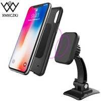 Samochodowy magnetyczny uchwyt na telefon 360 stopień obrotu Dashboard telefon do montażu na stojaku w samochodzie dla iPhone X Samsung wsparcie GPS Ipad powietrza