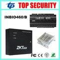 Inbio460 4 puertas del panel de control de acceso ZK huella digital y tarjeta rfid puerta de control de acceso con la función de la batería fuente de alimentación
