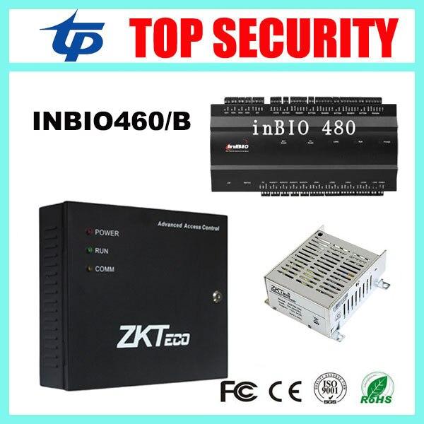 ZK inbio460 4 doors access control panel fingerprint and rfid card door access control panel with battery function power supply