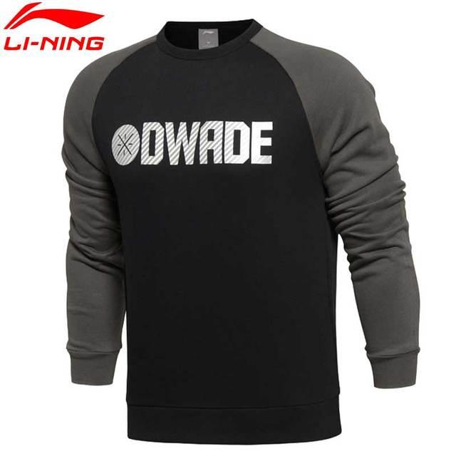 Li-Ning Men's Wade Series 82.5% Cotton 17.5% Polyester Regular Fit LiNing Sports Sweaters AWDL407 MWW1127