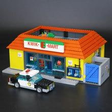 LEPIN 16004 2232 Pcs Simpson KWIK-E-MART Modèle Ensemble Kits de Construction Modèle Compatible Avec 71016 Enfants L'éducation belle jouets cadeaux