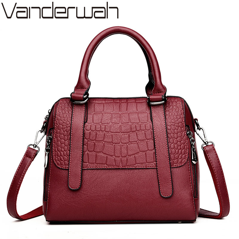 08397fb00130 NEW Fashion Small Shell Leather Luxury Handbags Women bags designer  Crocodile pattern Casual Tote women shoulder