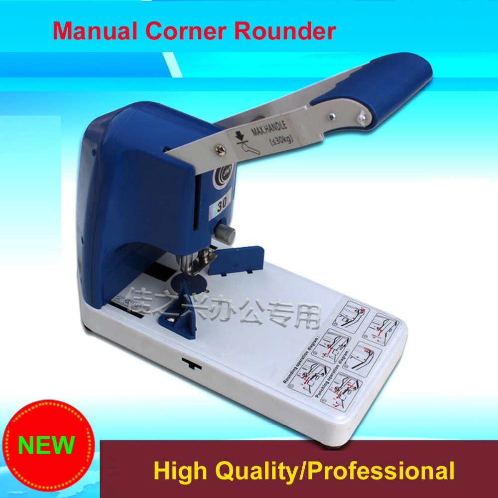 Fast Free shipping NEW Professional R6 30MM Thickness ID Business Criedit PVC Paper Card Die Corner Rounder Cutter automatic electronic driven cut card cutter to cut pvc id business card punching machine with high speed