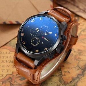 Image 5 - CURREN herren Uhren Top Brand Luxus Mode & Casual Business Quarzuhr Datum Wasserdichte Armbanduhr Hodinky Relogio Masculino